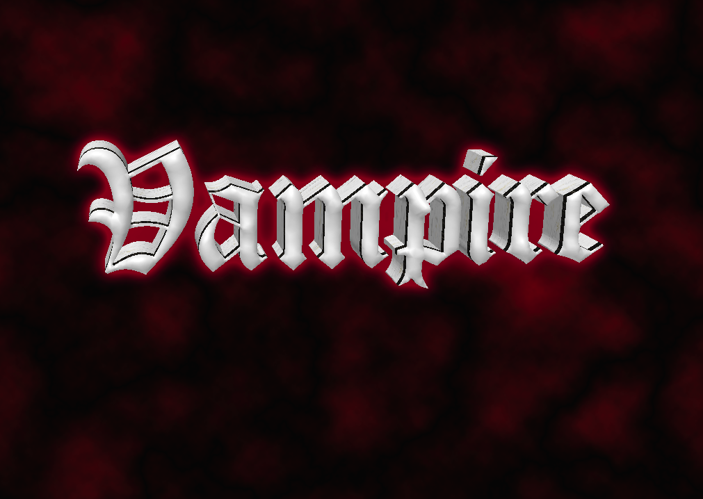 Create 3D Gothic Text In Photoshop