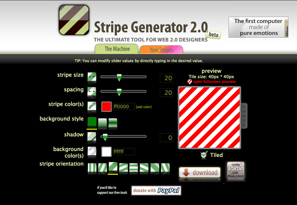 Stripe Generator Tools For Designers