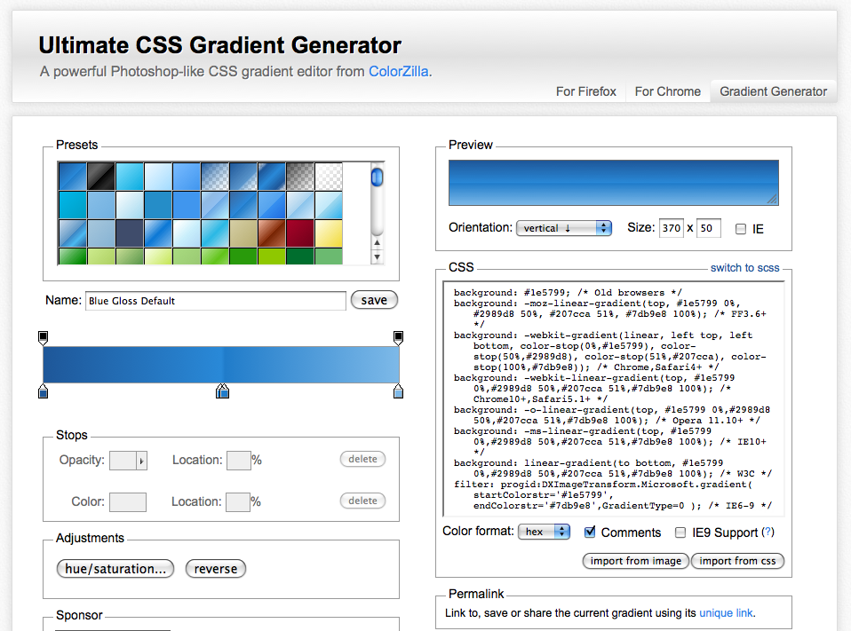CSS Gradient Generator Tools For Designers
