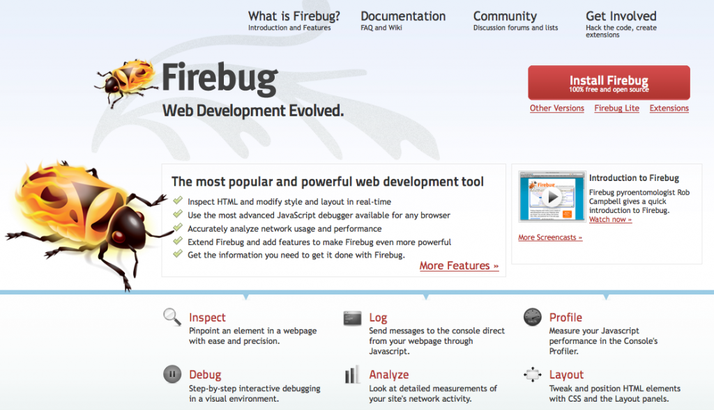 Firebug Tools For Designers