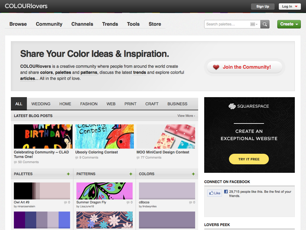 Colour Lovers Tools For Designers