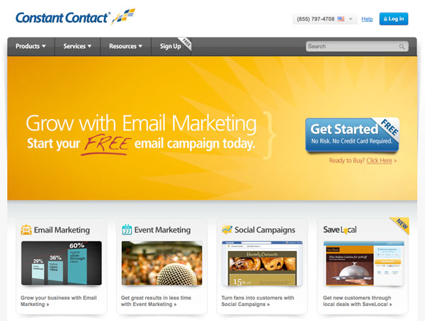 constant contact Email Marketing services provider