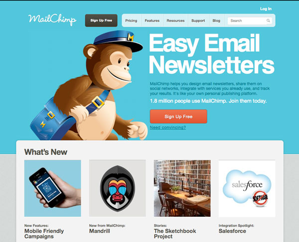 mailchimp Email Marketing services provider