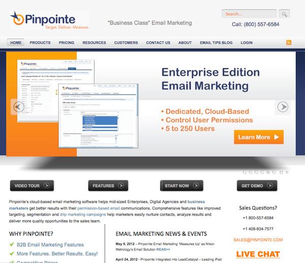 pinpointe Email Marketing service provider