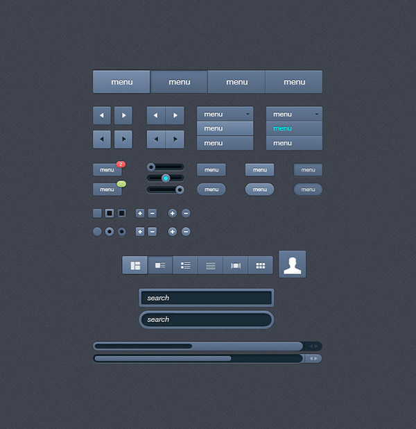 UI Free Photoshop UI Kit