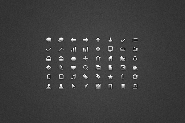 Glyph-UI-Free-Photoshop-Icon-sets