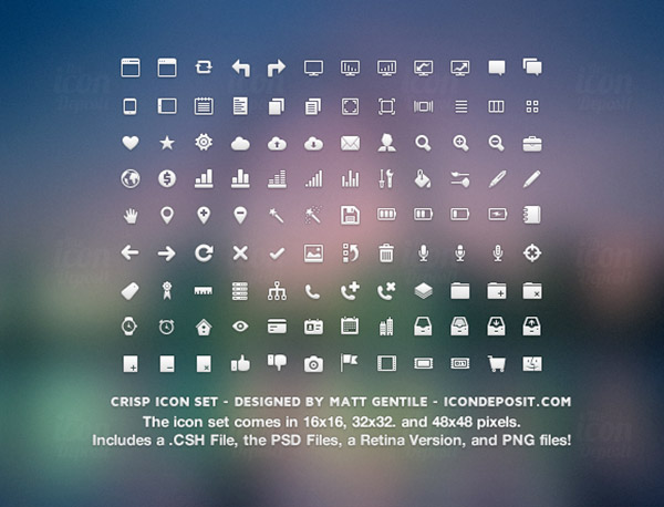 Icon Sets Web Design, Graphic Design, & Typography