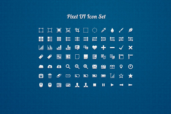 Pixel-UI-Free-Photoshop-Icon-sets