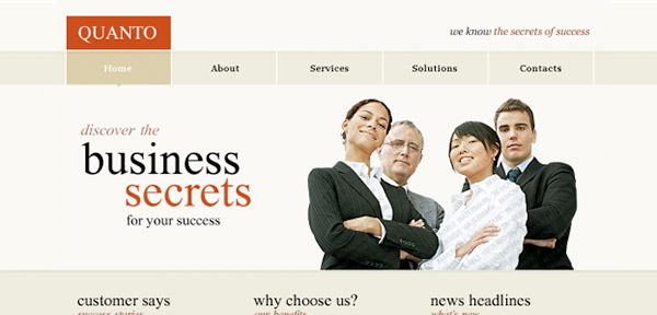 business-secrets - Free Photoshop Website Templates