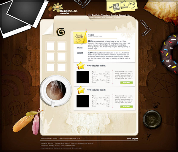 designstudio - Free Photoshop Website Templates