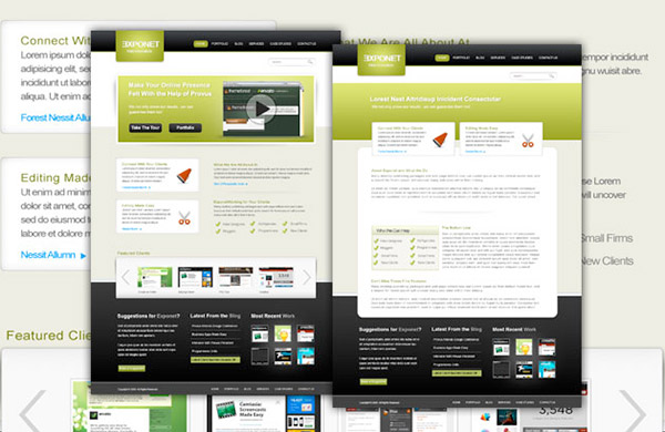 exponent - Free Photoshop Website Templates