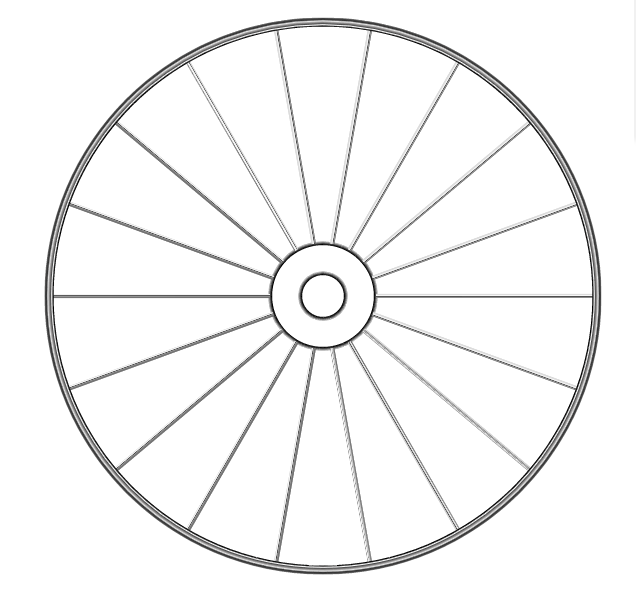 3d-wheel-Gradient Strokes