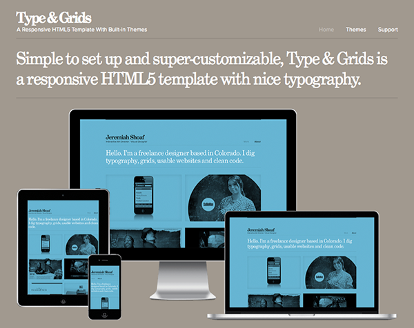 Winners Announced: Type & Grids Pro Responsive Html5 Template