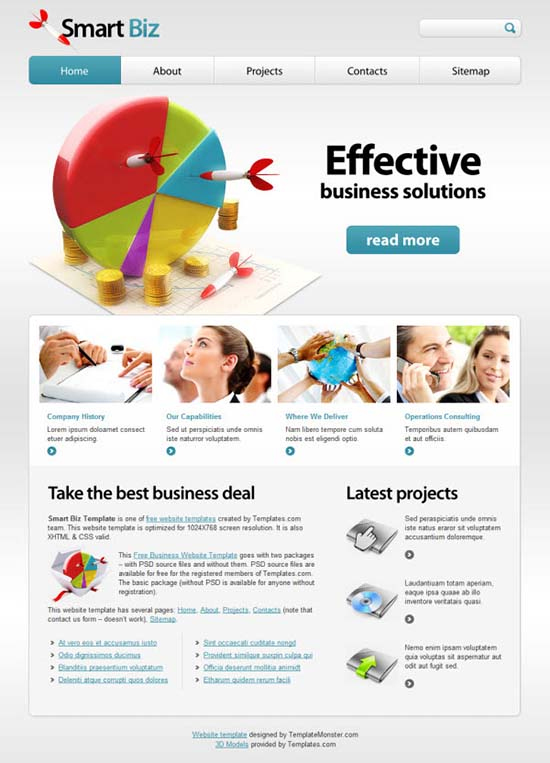 Smart Biz Free Website Template