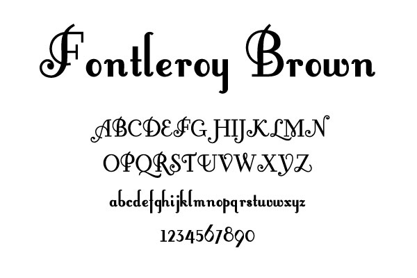 FontleroyBrown Free Retro Fonts