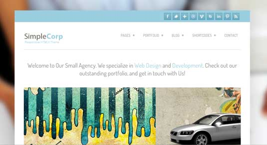 Simple Corp: Free Responsive WordPress Portfolio Themes