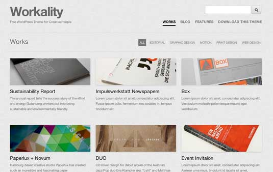Workality: Free Responsive WordPress Portfolio Themes