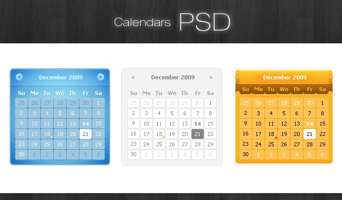 Calendar Templates Creative : Free calendar psd photoshop file creative beacon