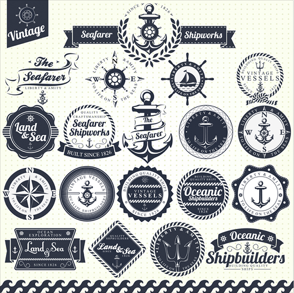 free vintage nautical vectors
