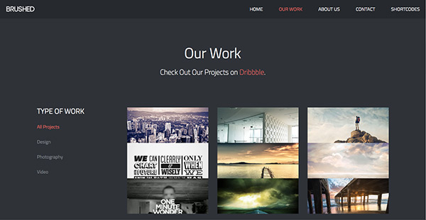 brushed free html5 responsive template creative beacon free portfolio templates