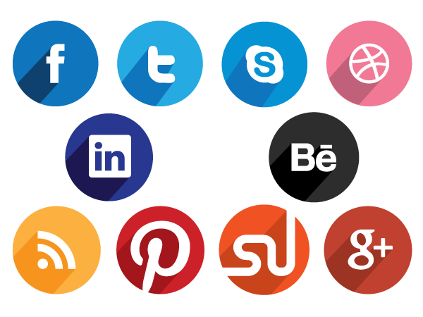 Free Circular Flat Social Media Icons Creative Beacon