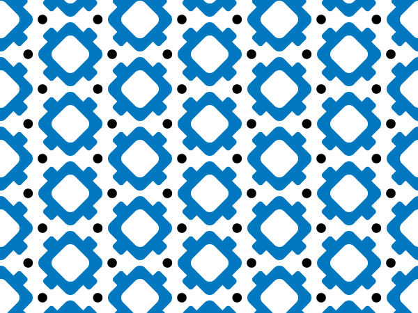 Blue Geometric vector pattern swatches