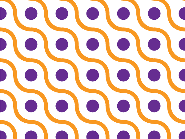 Purple wave vector pattern swatches