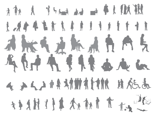 Free Vector Human Shapes 07