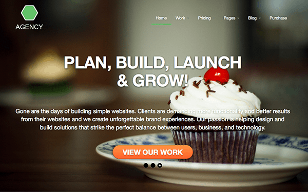Agency: Html5 Responsive Template Top