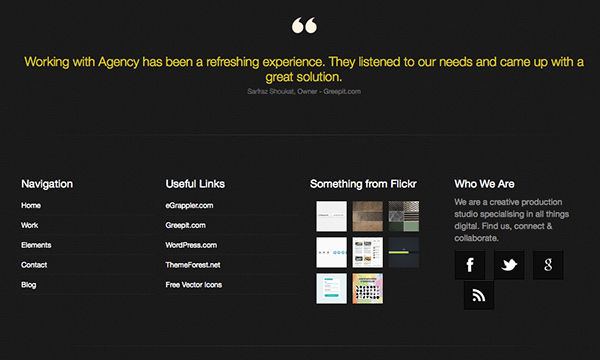 Agency Html5 Responsive Template Footer