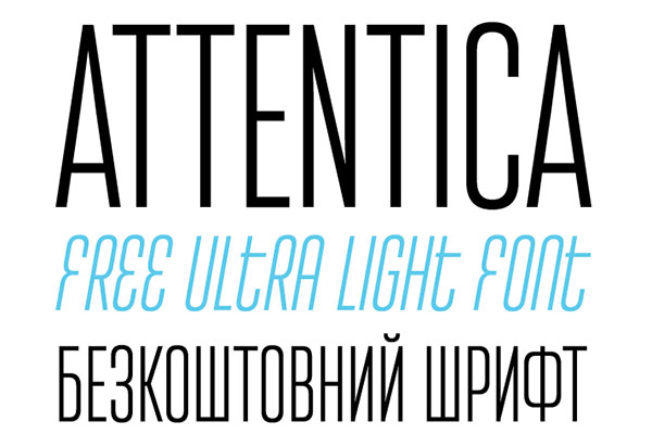attentica New Free Fonts