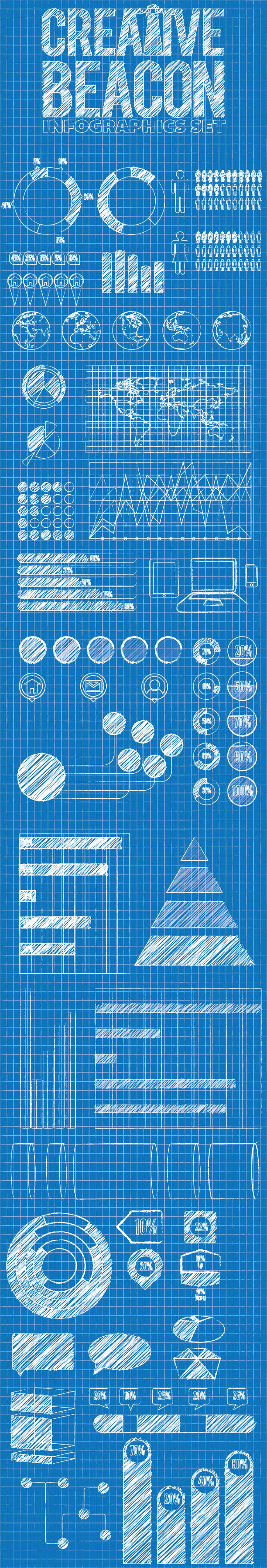 blueprint infographic elements