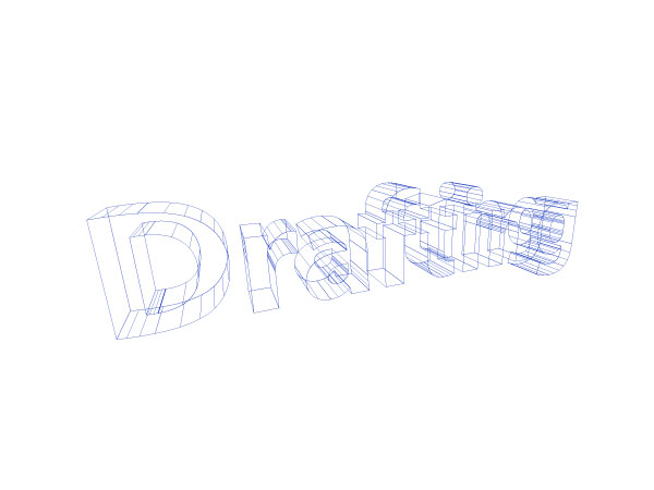 3D Wireframe Text in Illustrator