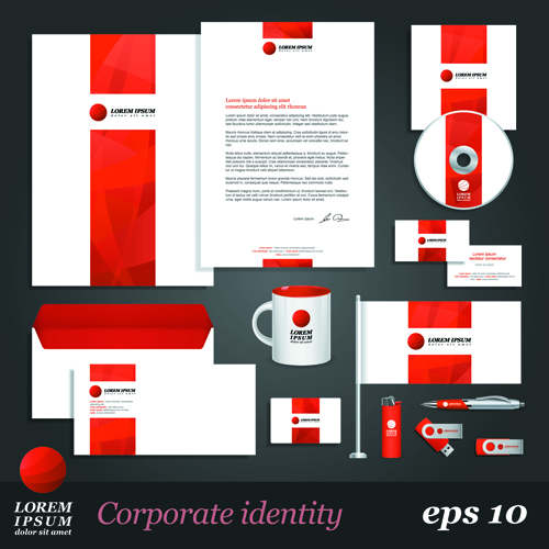 8 Free Vector Corporate Identity Kits