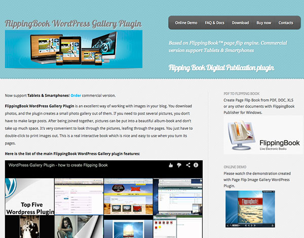 flipping book gallery plugins