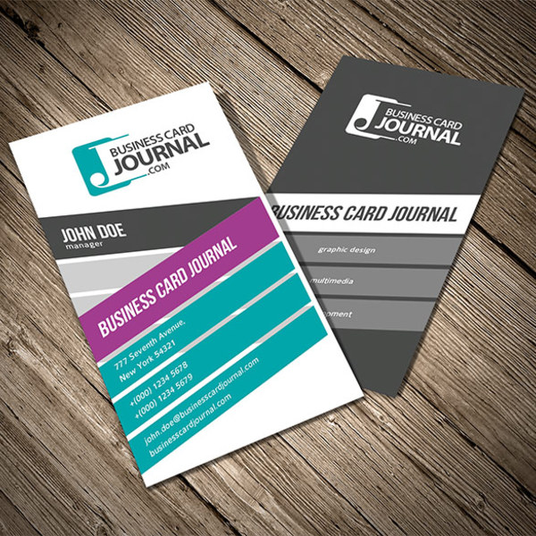 5 excellent free vector business card templates creative beacon vertical vector business card templates wajeb Image collections
