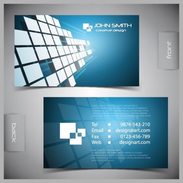 5 excellent free vector business card templates creative beacon squares vector business card templates reheart Gallery