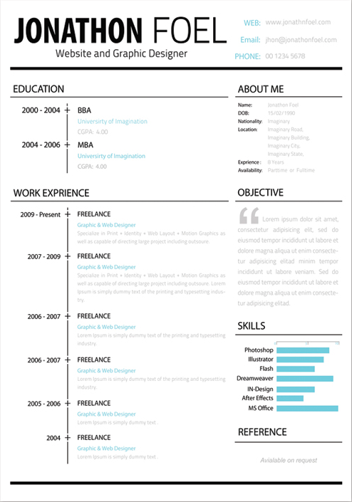 Free Resume Template Psd Creative Beacon - Timeline resume template