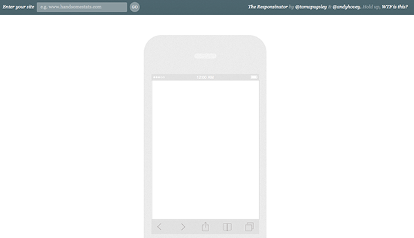 Responsinator: Tools for responsive design