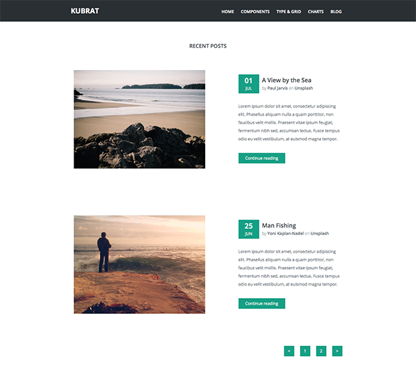 Kubrat free html5 responsive template creative beacon for Free html blog templates