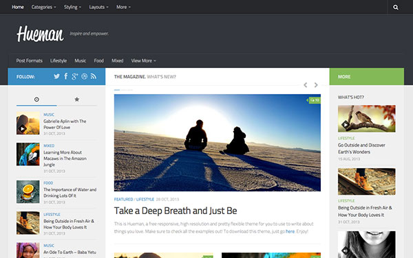 Hueman New Free WordPress Themes 2014