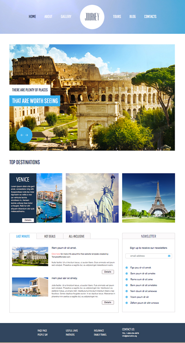 Journey Responsive Html5 Template home
