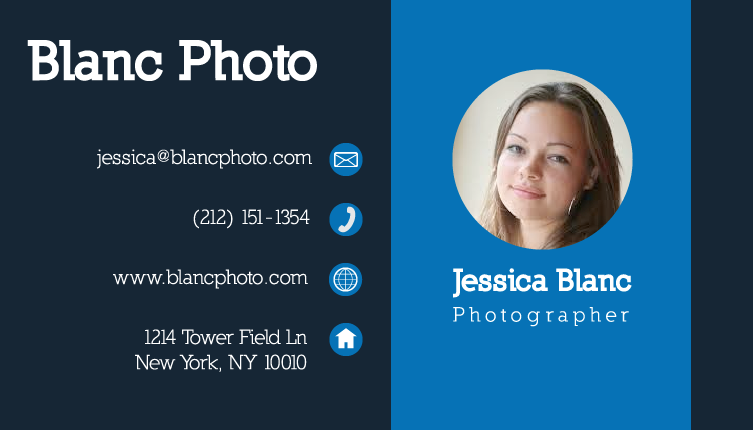 vector business card templates Photographer 2
