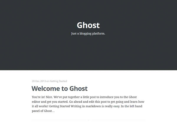 The New Ghost Blogging Platform
