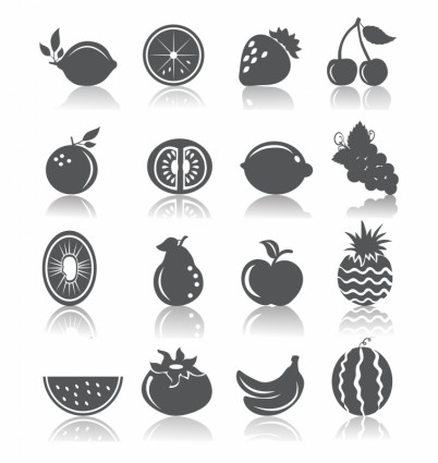 fruit and vegetable vector shapes 4