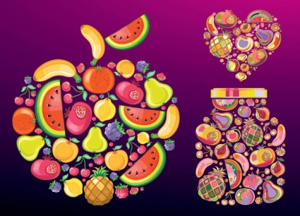 fruit and vegetable vector shapes 3