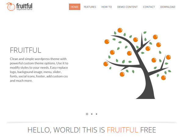 Fruitful new free wordpress themes