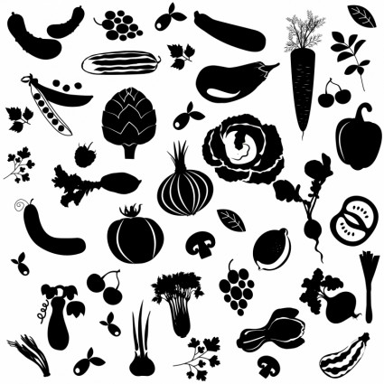 fruit and vegetable vector shapes 5