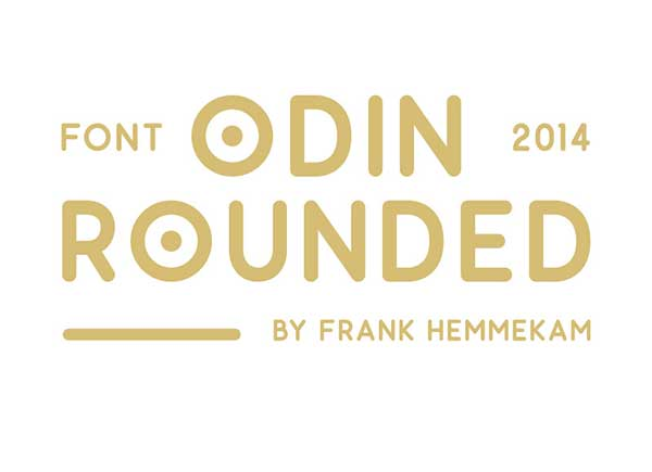 Odin Rounded Best New Free Fonts 2014