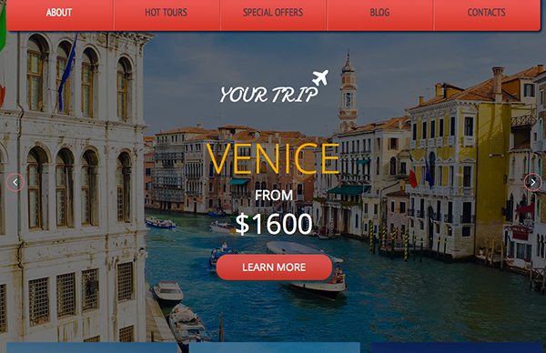 YourTrip Responsive html5 Template home